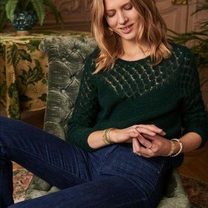 Sezane Hortense Jumper Dark Green